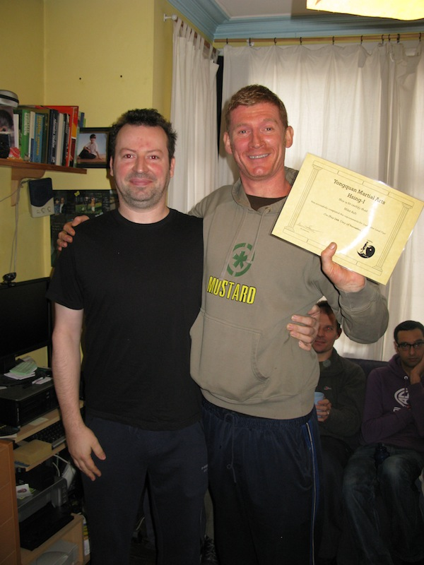 Michael Ash receiving his level 2 from Sifu Smith
